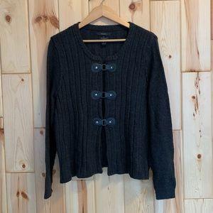 Tahari Merino Wool Blend Gray Sweater 2X